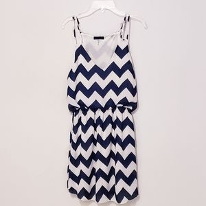 Cals Chevron print mini dress